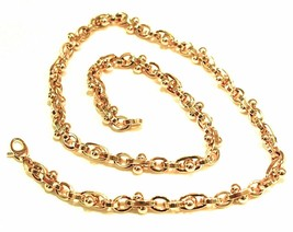 18K YELLOW GOLD CHAIN ALTERNATE OVALS 6 MM, SPHERES, 20 INCHES, ROUNDED ... - $2,958.67