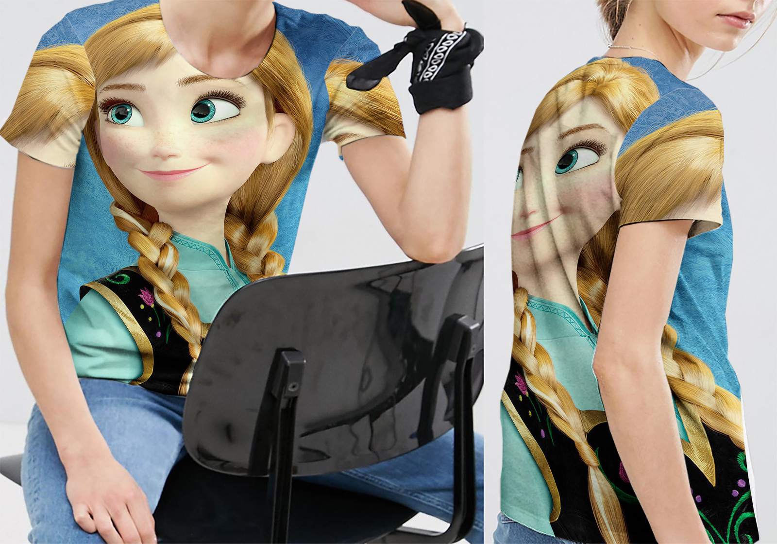 Disney frozen anna tee women s