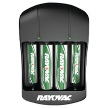 RAYOVAC PS134-4B GEN Value Charger with 2 AAA & 2 AA Ready-to-Use Rechargeable B - $30.64