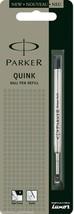1 x Parker Quink Flow BallPoint Ball point Pen Refills BallPen Black Fin... - $3.85