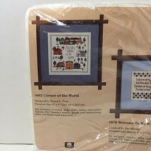 "Corner of the World Cross Stitch Kit Creative Circle 1683 Opened 9"" x 9"" - $12.59"