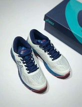 Asics Men's Gel-Kayano 25 White/Blue Running Shoe image 2
