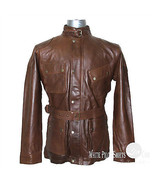 Panther Leather Jacket for Men Benjamin Military Vintage Brown Motorbike... - $196.55+
