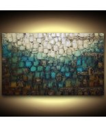 "36x24"" Abstract Wall Art PRINT grunge urban distressed on stretched canv... - $247.50"