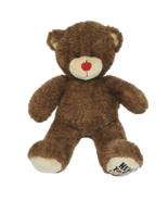 "17"" BUILD A BEAR NEW YORK CITY RED APPLE NOSE BROWN TEDDY STUFFED ANIMAL... - $43.52"