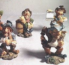 Vintage 4 pc. Ceramic Figurine Country Western Sheriff Deputy Outlaws 3.... - $25.21