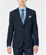 Bar III Men's Slim-Fit Stretch Blue Flannel Suit Jacket Size 40L MSRP $425 - $79.15