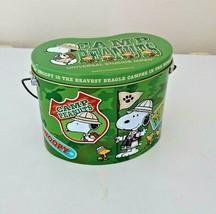 Snoopy USJ empty box green universal studios japan rare 2008 tin can pea... - $20.00