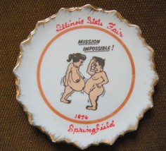 Illinois State Fair Collectible plate 1976 SRINGFIELD Cartoon Mission Im... - $19.95