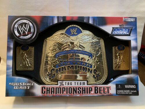 Primary image for  WWE Smackdown Tag Team Champions Kids Replica Title Belt 2004 Jakks Pacific WWF