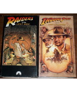 Raiders of the Lost Ark & Indiana Jones Last Crusade VHS Tapes Spielberg... - $9.80