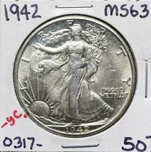 1942 Walking Liberty Half Dollar 90% Silver Coin Lot# A 578