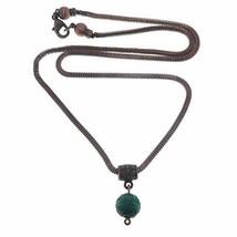 SatinCrystals Malachite Necklace Boutique Carved Genuine Green Gemstone ... - $85.08