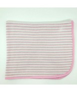 Gerber Baby Blanket White Pink Purple Striped Ribbed Thermal Cotton Girl... - $24.99