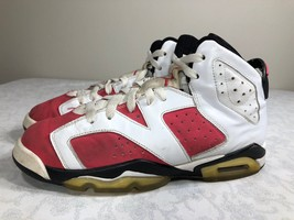 2009 Nike Air Jordan Retro VI 6 White Pink Girls GS 7y Oreo Carmine Infr... - $24.99