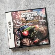 Monster Jam: Path of Destruction (Nintendo DS, 2010) Manual + Case COMPLETE - $10.88