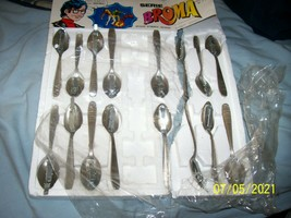 (16) Vintage Broma Spain Cap Spoon Set on original broken styrofoam display - $50.00