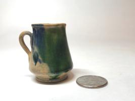 "VTG Ceramic Miniature Pitcher/Vase w/Handle 1.5"" X 2"" Hand-painted Mexico 31 - $7.87"