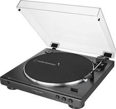 Audio Technica AT LP 60X Black Turntable Fully Automatic Stereo Record Player - image 2