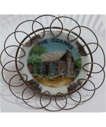 """The Ozarks Souvenir Collectors 3"""" Plate Cabin in the Woods Metal Frame - $12.99"""