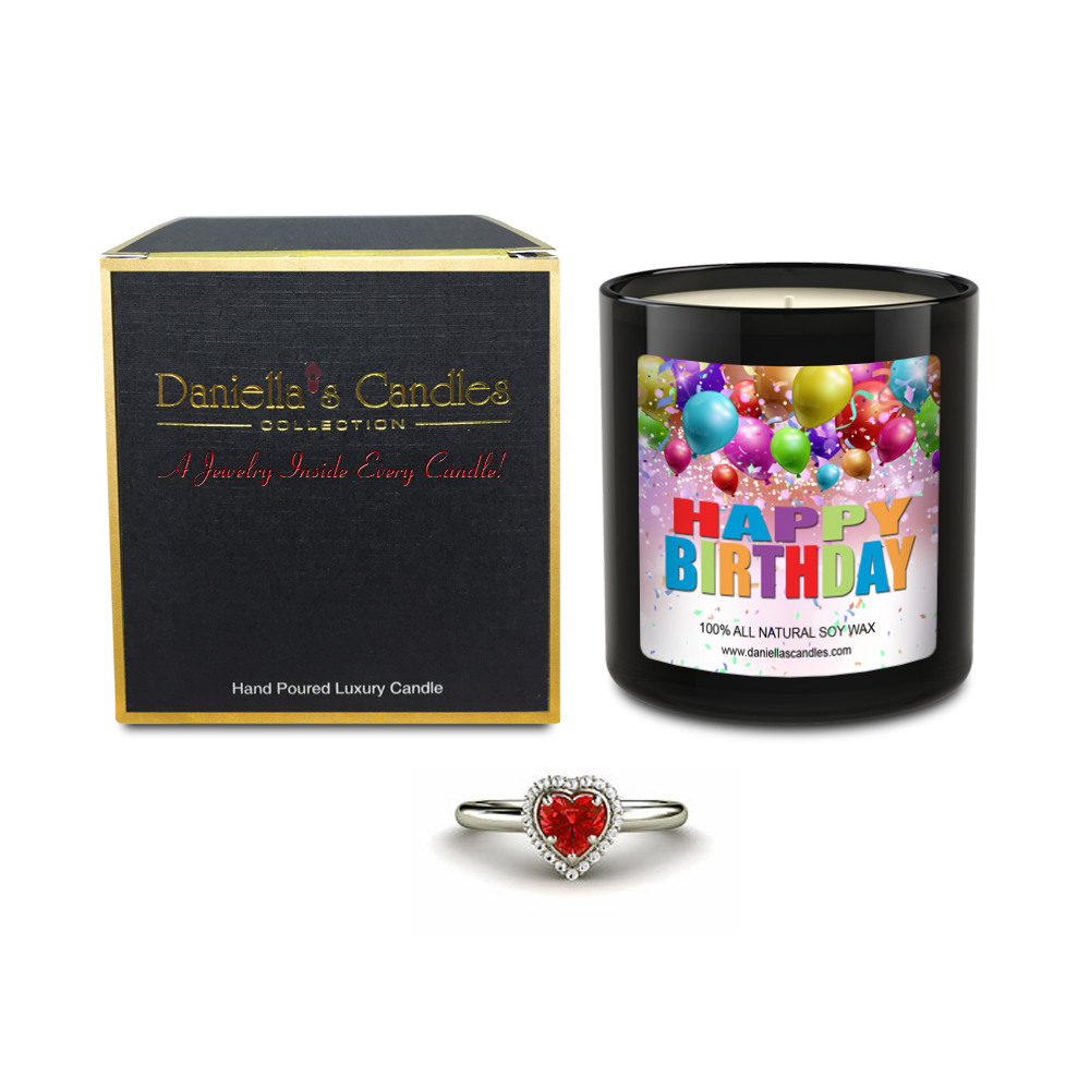 Happy Birthday Jewelry Surprise Candle By Daniella's