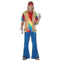New Mens Totally Ghoul Tie Dyed Hippie Halloween Costume Size M Party Dress Up - $36.97