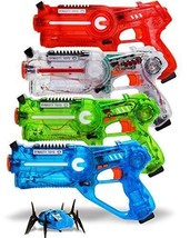 DYNASTY TOYS Official Jukibot Laser Tag Set - 4 Laser Tag Blasters and 1... - $124.80