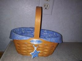 Autographed Longaberger Basket 2000 Century Celebration Cheers liner protector - $94.99