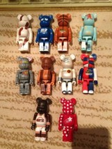 BE@RBRICK 100% NIKE be@rfoce 1  2002  Set of 10 Character doll Used E76 - $396.00