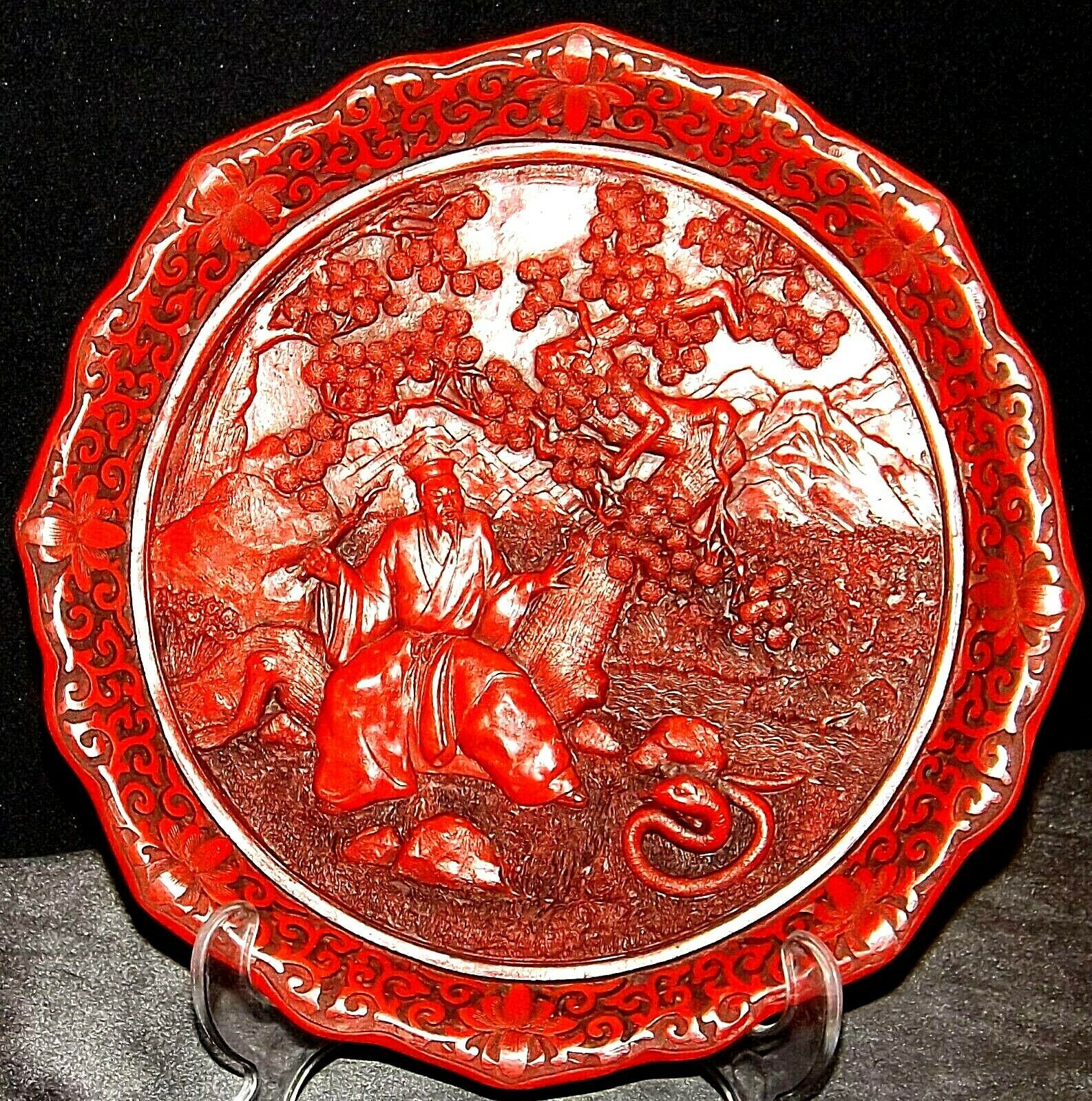 "The Prince and the Python"" Commemorative Plate by the Ming Dynasty  AA20-CP2336"