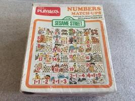 Vintage 1977 Playskool SESAME STREET Numbers Match Ups Puzzle SEALED 24 2pc - $22.72
