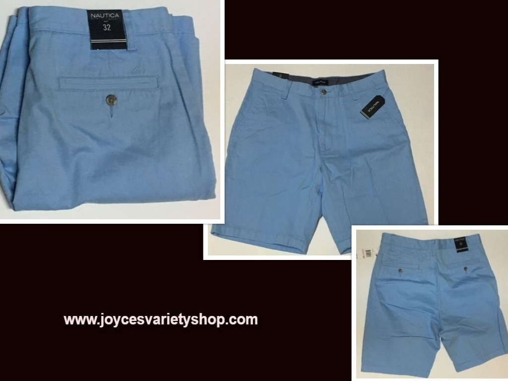 Mens nautica 32 blue shorts web collage