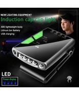 Cap-clip Gesture Sensing Light USB Rechargeable Induction LED Headlight ... - $18.96