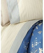Ralph Lauren Josephina Stripe Cream/Blue Sheet Set King - $205.00