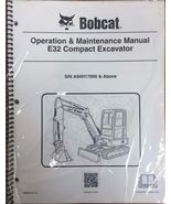 Bobcat E32 Compact Excavator Operation & Maintenance Manual Owner's 2 #6... - $23.00+