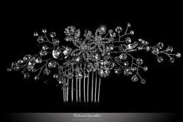 Sisley Garden Flower Leaves Hair Comb | Swarovski Crystal - $86.95