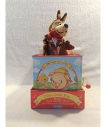 2001 Schylling Three Little Pigs Tin Musical Jack In The Box Toy w/Wolf ... - $13.95