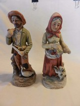 Vintage Old Man & Old Lady Love Animals Ceramic Figurines from Homco - $29.69