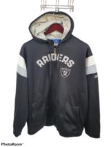 OAKLAND RAIDERS Silver Black Men Pullover Sewn Sweatshirt Hoodie XL Reeb... - $47.51