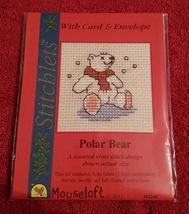 Mouseloft Stitchlets - Polar Bear - mini cross stitch card kit - $3.96