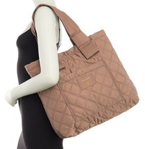 Marc Jacobs Bag Diamond Quilted Nylon Large Knot Tote French Grey NEW - $173.25