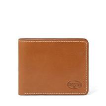 Nuovo Fossil pelle Vaughn Bifold Portafogli Porta Carte di Credito Cognac - $39.59