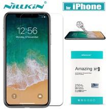 Nilkin iPhone X XR XS Max Tempered Glass Screen Protector 9H Hard Clear Film - $13.88+