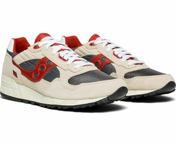 Saucony Shadow 5000 Vintage Men's Sneaker Off White/Grey/Red , Size 8 M - $69.29