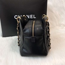 AUTHENTIC CHANEL QUILTED CAVIAR PST PETITE SHOPPING TOTE BAG BLACK SHW RECEIPT image 4