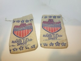 Canvas All American Vintage Shot Bags Bundle of 2! FAST FREE SHIPPING! - $20.78