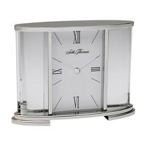 Seth Thomas Silver Glass Carriage Table Clock - $78.87