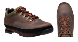 Timberland MEN'S CLASSIC LEATHER EURO HIKER Brown LOW Shoes BOOTS Style ... - $98.73 CAD+