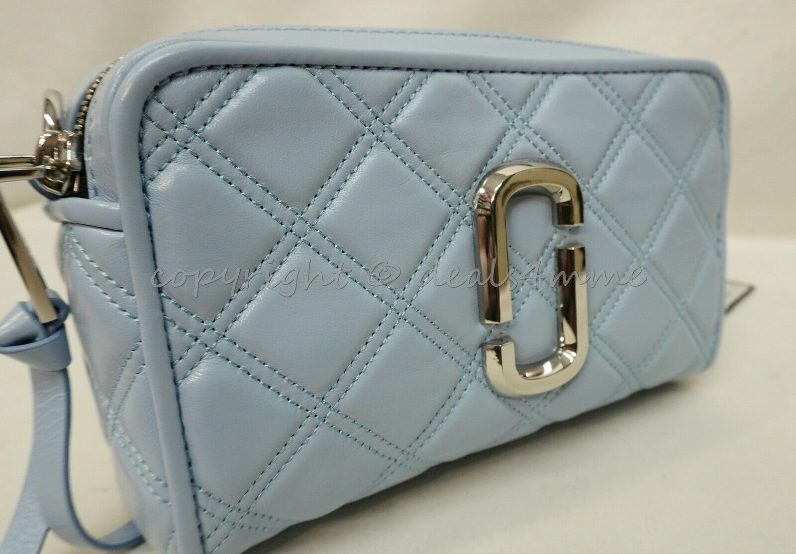 Primary image for The Marc Jacobs M0015419 SoftShot 31 Quilted Leather Shoulder/Crossbody Bag Blue