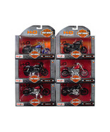 Harley Davidson Motorcycle 6pc Set Series 35 1/18 Diecast Models by Mais... - $74.67